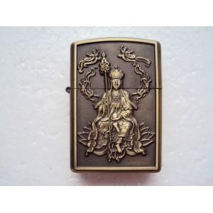 Hand Carved Vietnam Lighter -with statue Buddha - very rare 2