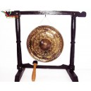 Hand Carved Vietnam Brass Gong -Sculpture Pattern of BRONZE DONG SON KETTLE DRUM