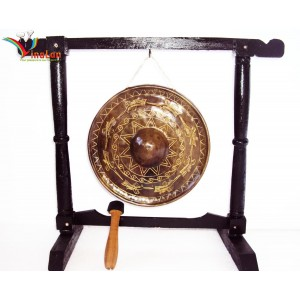 Vietnam Brass Gong -Sculpture Pattern of BRONZE DONG SON KETTLE DRUM