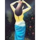 Vietnam Lacquer Art Paiting-Plate picture- Sex Nude Girl -Wall hanging-Decor