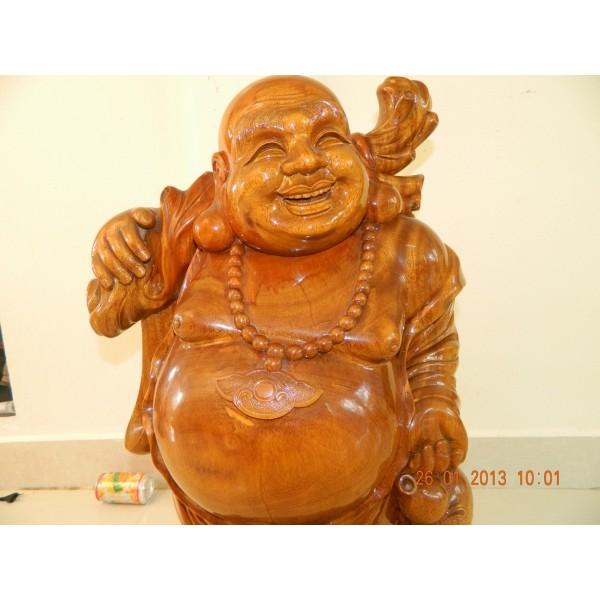 Hand carved wood art buddha statue sculpture wooden