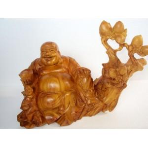 New Hand Carved Wood Art Buddha Statue -Sculpture Buddha -Vietnam Carving-13 inch -N4