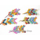 Set of 50 Mini Hand Carved Painted Self Balancing Bamboo Dragonfly Decor 2.7''