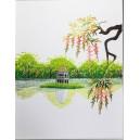 Vietnam Handmade needlepoint Embroidery Picture - Landscape Hoan Kiem Lake