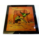 Art Lacquer Pictures (30x30)cm -Herd boy with buffalo -Wall hanging- Home decor