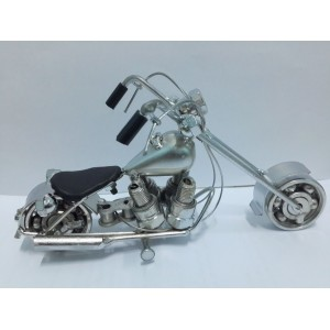 Hand Carved Metal Art Model Motorcycle HARLEY DAVIDSON large Cylinder Motorcycle