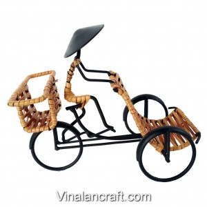 Handmade Tricycle Pedicab Model -Contain Stationery -Desk Decor -Paperweight