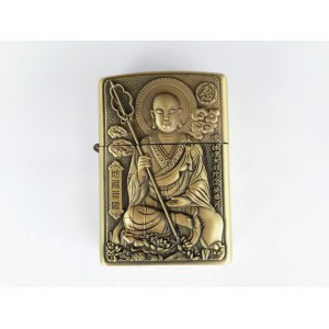 Hand Carved Vietnam Lighter -with statue Buddha - very rare N4