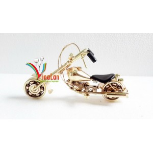 Handmade Yellow Metal Motorcycle model - Miniature model