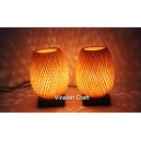 Bamboo night-lamp for home decor - handmade lamp for bedside