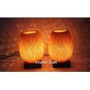 Bamboo night-lamp for home decor - handmade lamp for bedside