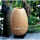 Modern Handmade Bamboo Pendant Lamp , 33cm diameter