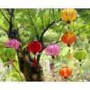 Set of 8 Mini Silk Lanterns 10cm  - for christmas decoration - lanterns for wholesale
