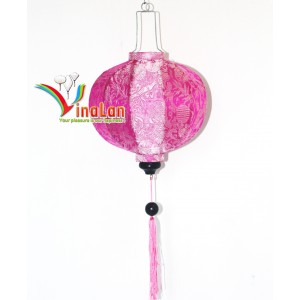 Set 4pcs Hoi an silk  lanterns 35cm for Wedding Decoration (Round lanterns)- wholesale silk lanterns
