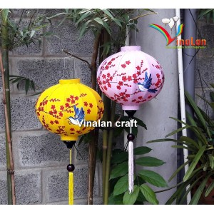 Hoi An silk lanterns with flowers hand painted - Flowers lanterns