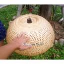 Handmade bamboo night-lamp for desk decor 13''- lamp for wedding decorations