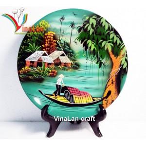 Decoration Lacquerware Dish - Landscape of countryside