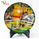 Vietnam Art Lacquer Dish, Countryside landscape, Wall hanging, Desk decoration N9