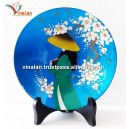 Vietnam Art Lacquer Dish, Countryside landscape, Wall hanging, Desk decoration N8