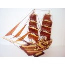 Handmade Wood Art Model Ship - Handmade SAIL BOAT - Desk Decoration