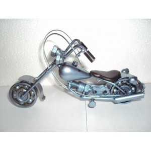 Handmade Green Metal Art Model Motorcycle HARLEY DAVIDSON
