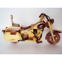 Hand Carved Wood Art Model Motorcycle HARLEY DAVIDSON -Handmade Christmas Gift