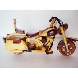Hand Carved Wood Art Model Motorcycle HARLEY DAVIDSON -Handmade Christmas Gift