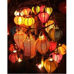 Mini Silk Lanterns 10cm for WEDDING Decoration- Christmas Decor