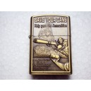 Hand Carved Lighter -World war 2 -help pass ammunition- Handmade LIghter
